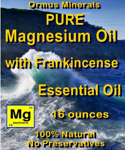Ormus Minerals -Magnesium Oil with Frankincense Essential Oil