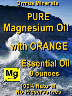 Ormus Minerals -Pure Magnesium Oil with ORANGE Essential Oil