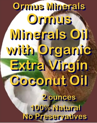 Ormus Minerals -Ormus Minerals Oil with Organic Extra Virgin Coconut Oil