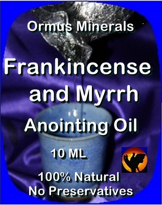 Ormus Minerals -ANOINTING OIL with FRANKINCENSE and MYRRH