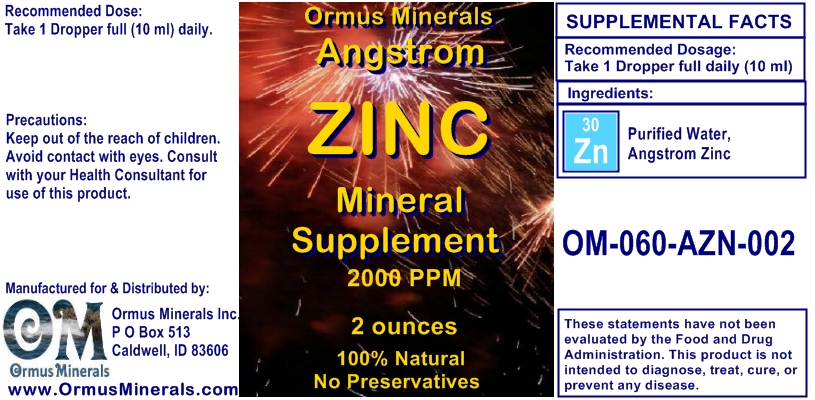 Angstrom Zinc Mineral Supplement 2 ounces