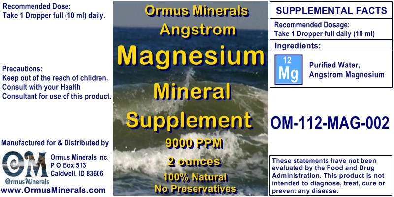 Angstrom Magnesium Minerals Supplement 2 ounces