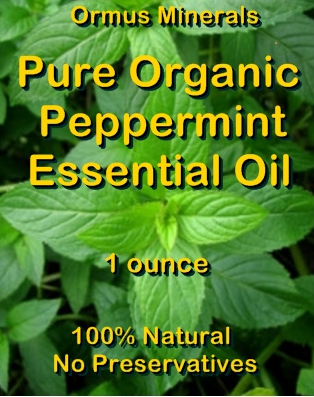 Ormus Minerals --Pure Organic PEPPERMINT Essential Oil