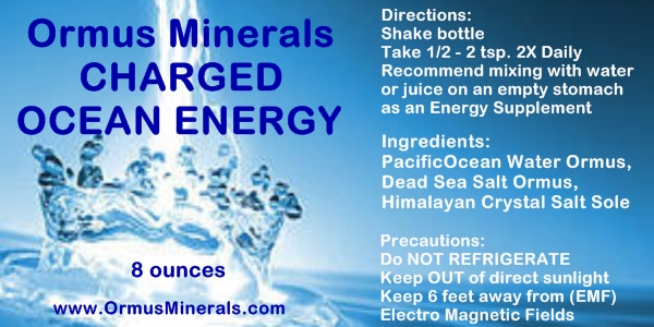 Ormus Minerals Charged Energy